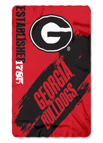 Georgia Bulldogs Painted Fleece Throw