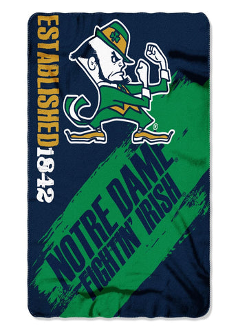 Notre Dame Fighting Irish Painted Fleece Throw