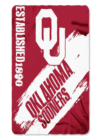 Oklahoma Sooners Painted Fleece Throw