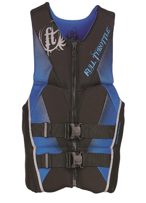 Full Throttle Mens Hinged Rapid-Dry Flex-Back Vest Blue-Xl