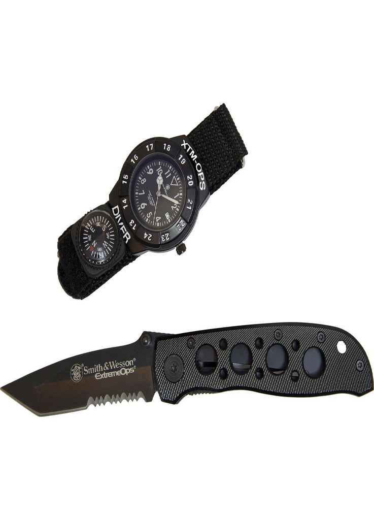 Smith & Wesson Extreme Ops Combo - Tactical Knife and Watch