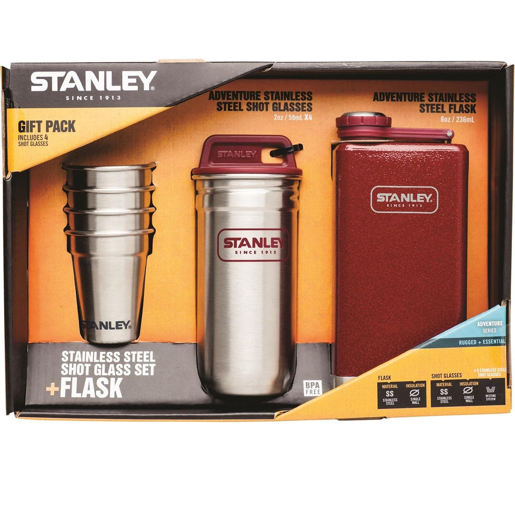 Stanley Adventure Gift Pack w-Flask and Shot Set - Crimson