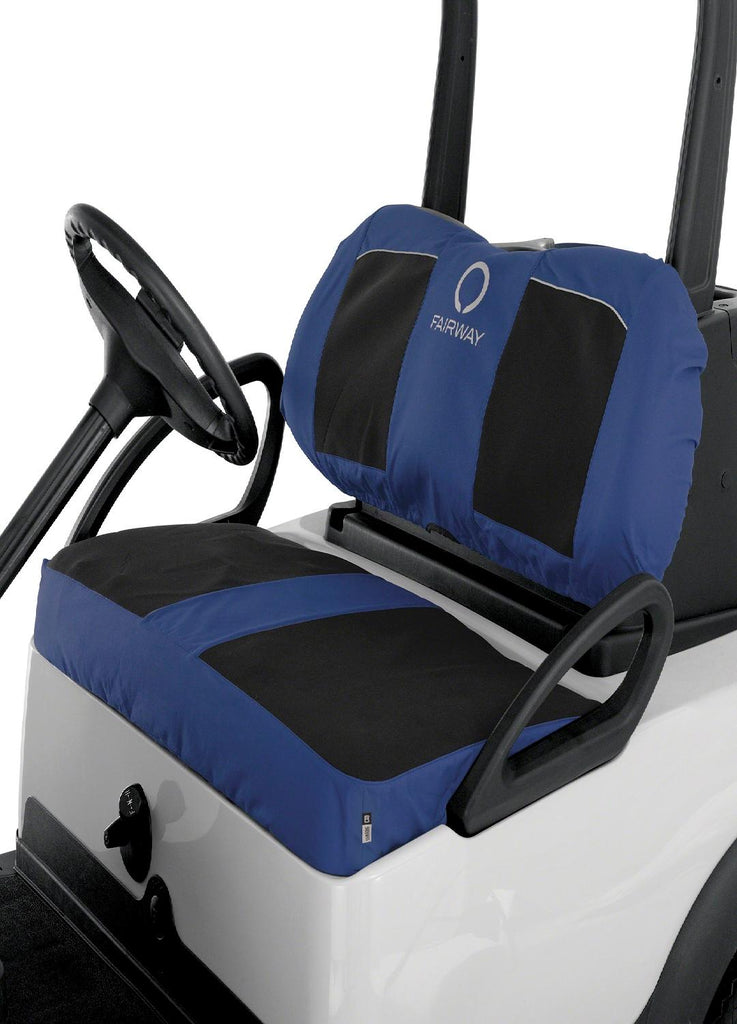 Classic Fairway Golf Cart Neoprene Bench Seat Cover-Blk-Navy