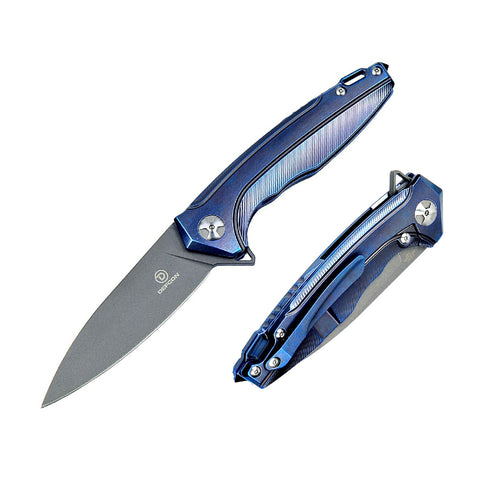 Defcon Kabuto Folder 3.5 in Blade Violet Titanium Handle