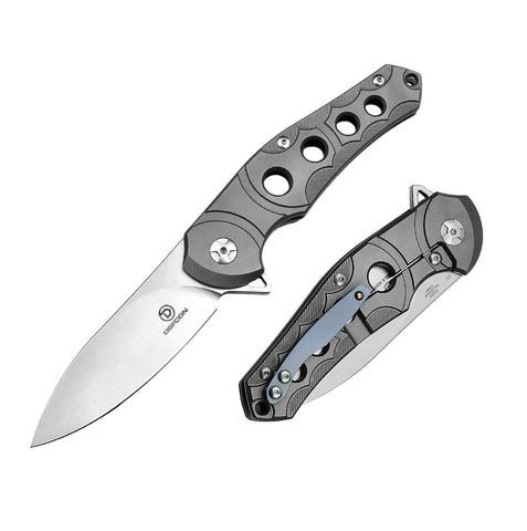 Defcon Sphere Folder 3.5 in Blade Gray Titanium-G10 Handle