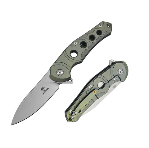 Defcon Sphere Folder 3.5 in Blade Green Titanium-G10 Handle