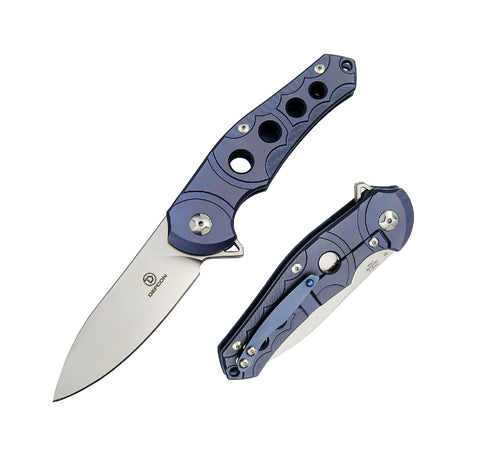Defcon Sphere Folder 3.5 in Blade Violet Titanium-G10 Handle