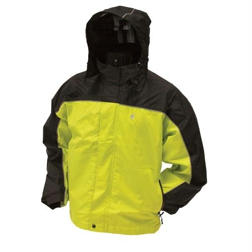 Frogg Toggs Highway Jacket Safety Green - Black Xlarge