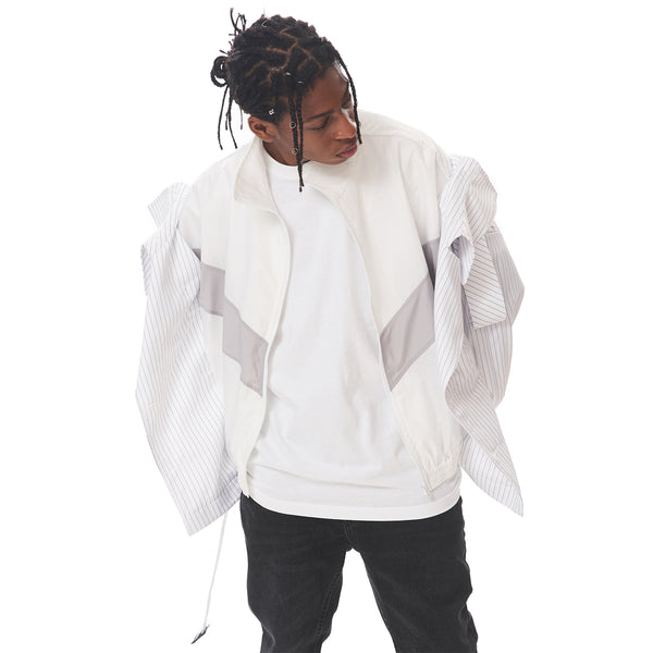 Contrasted Trench Windbreaker