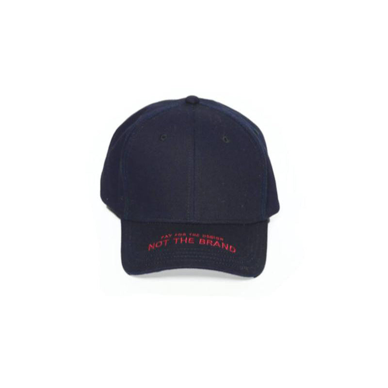 """PAY FOR THE DESIGN, NOT THE BRAND"" Cap"