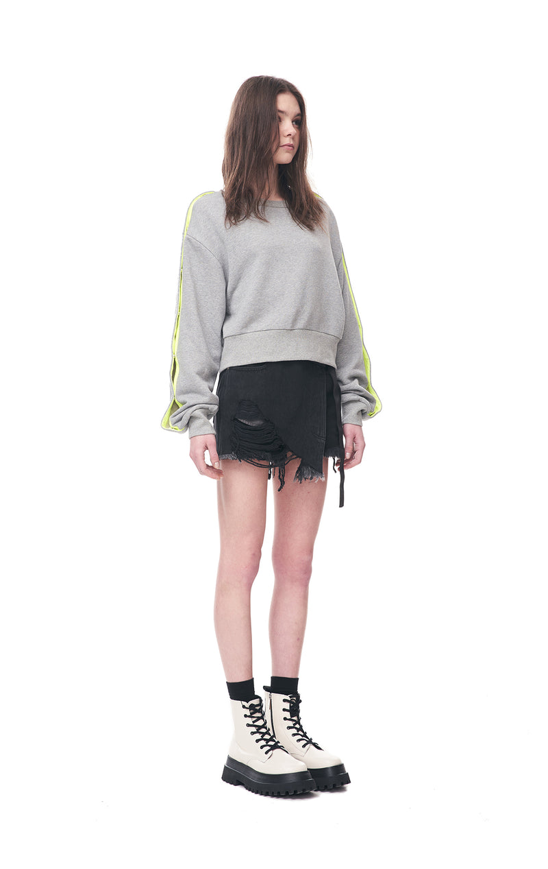 Snap-Sleeves Sweatshirt