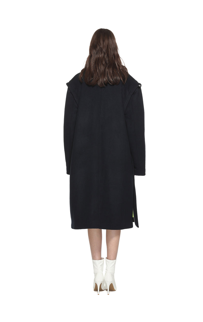 Doublebreasted Wool Long Coat