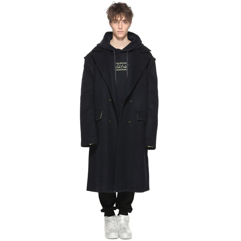 Double-Breasted Wool Long Coat
