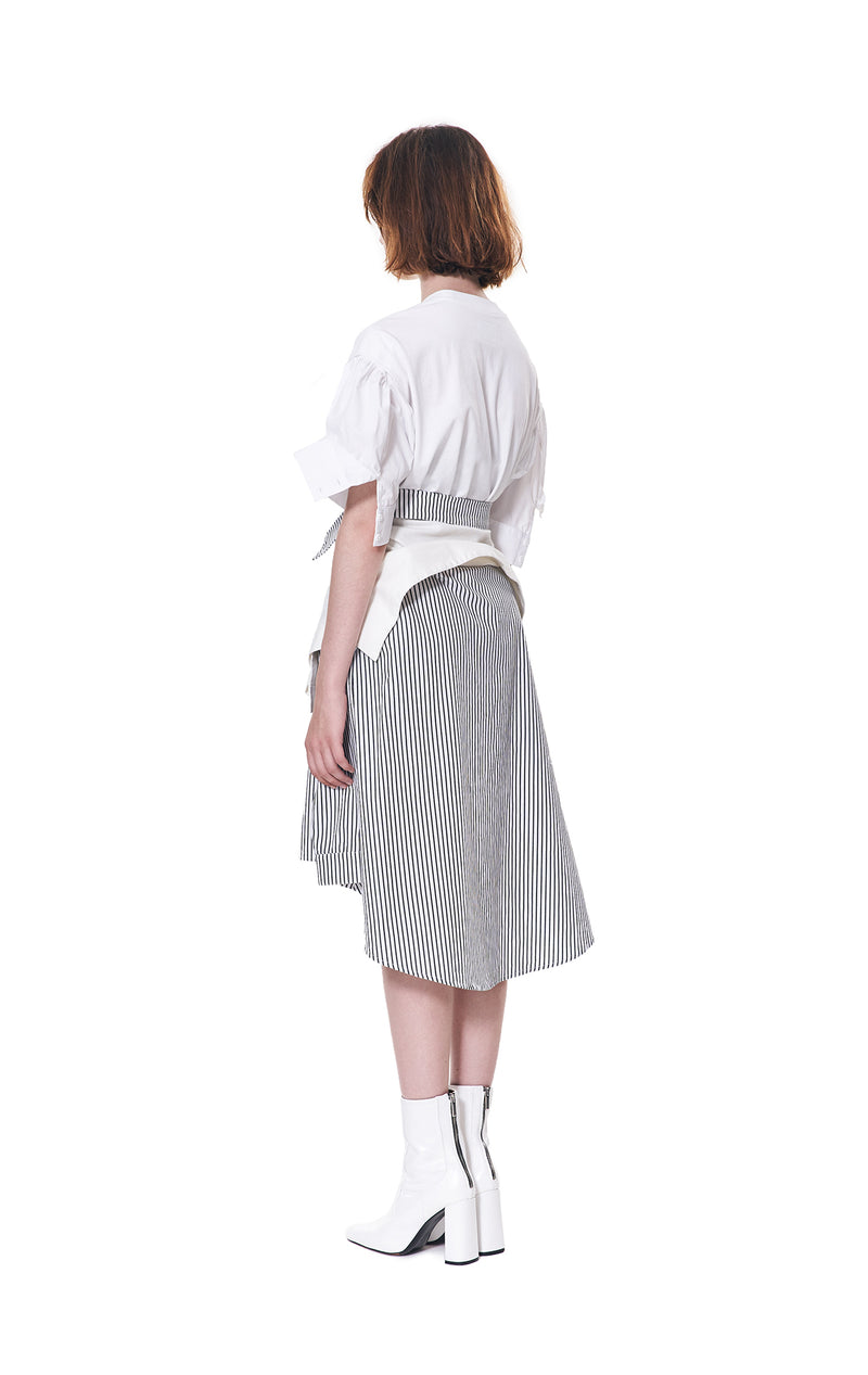 SHIRT SLEEVE TIE WAIST SKIRT