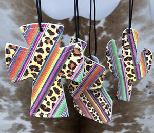 Leopard and Serape Car Freshie