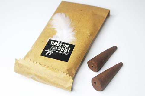 Native Soul Backflow Incense Cones | Crystal Karma by Trina