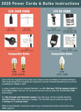 2020 Power Cord and Bulb Instructions | Crystal Karma by Trina