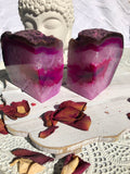 Agate Bookends - Pink & White Set of 2 | Crystal Karma by Trina