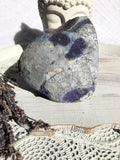 Agate Standing Candle Holder - Purple Geode - Crystal Karma By Trina