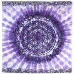 Altar Cloth - Flower of Life Purple Tapestry  | Crystal Karma by Trina