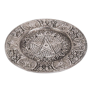 Aluminium Incense Holder Pentacle Round | Crystal Karma by Trina
