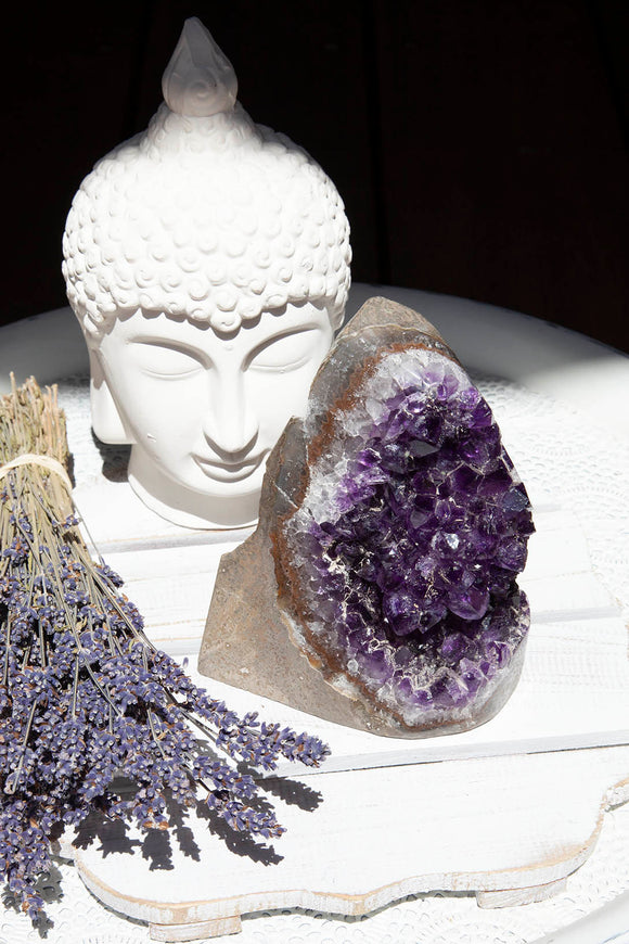 Amethyst Cluster Polished Point | Crystal Karma by Trina