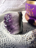 Amethyst Cluster Polished Edge #76 | Crystal Karma by Trina