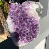 Amethyst Cluster Polished Edge #67 | Crystal Karma by Trina