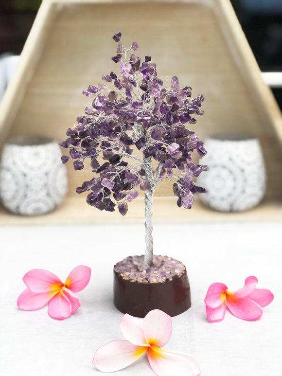 Amethyst Tree Silver Medium