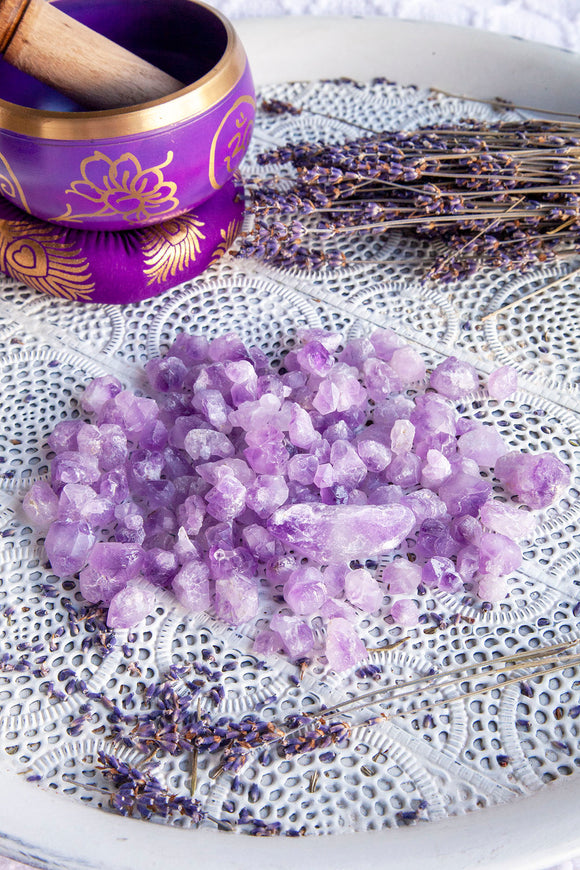 Amethyst Flowers Rough 100g Bag | Crystal Karma by Trina
