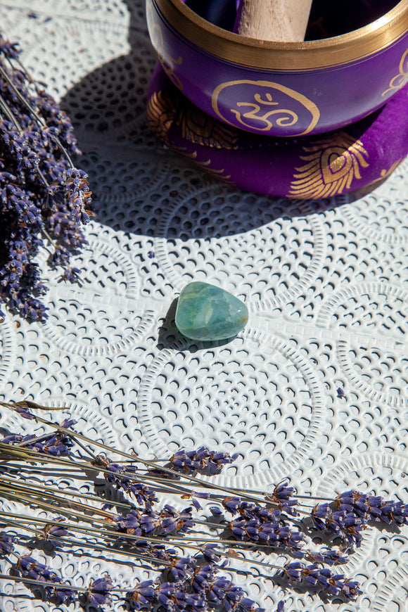 Aquamarine Tumble Stone | Crystal Karma by Trina