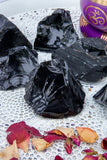 Black Obsidian Roughs - Large | Crystal Karma by Trina