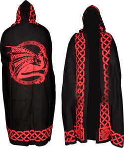 Black and Red Dragon Cape | Crystal Karma By Trina