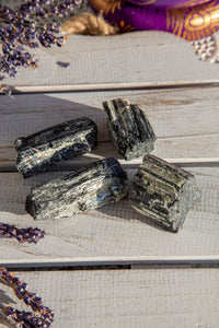 Black Tourmaline With Mica Rough Small | Crystal Karma by Trina