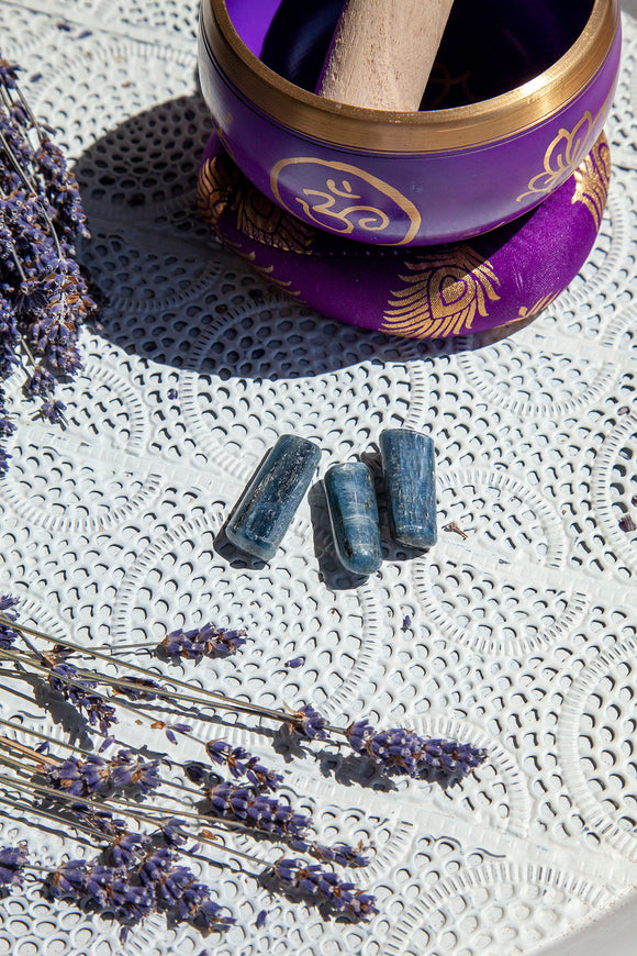 Blue Kyanite Tumble Stones | Crystal Karma by Trina