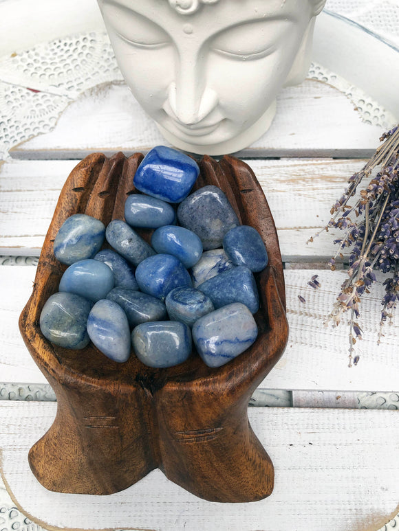 Blue Aventurine Tumbles (Quartz with Mica)| Crystal Karma By Trina