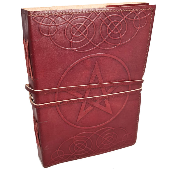 Book Of Shadows Leather Journal - Pentacle #2 | Crystal Karma by Trina