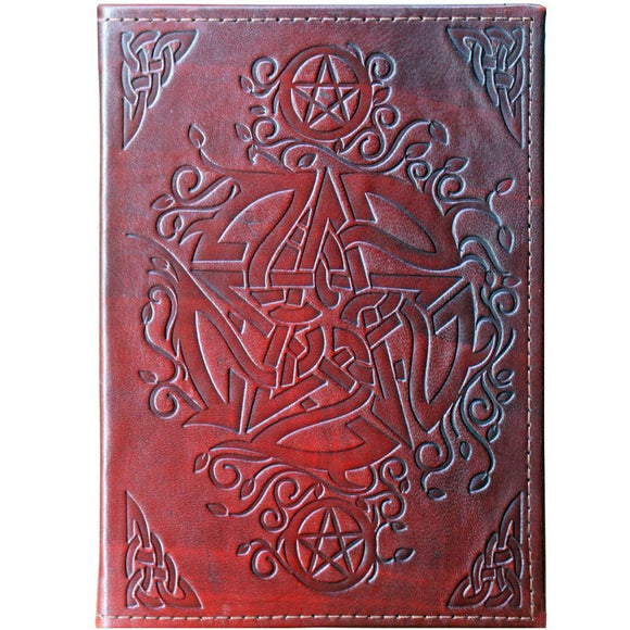 Book of Shadows Leather Journal Pentacle | Crystal Karma by Trina