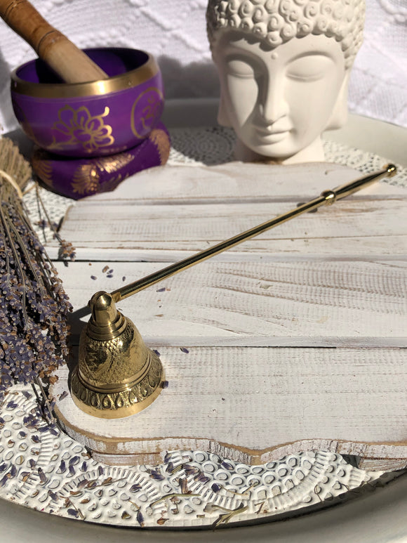 Brass Candle Snuffer Embellished | Crystal Karma By Trina
