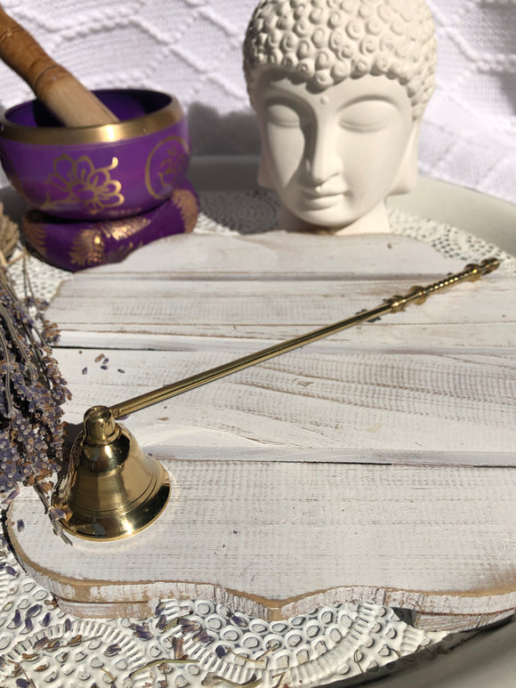 Brass Candle Snuffer Plain | Crystal Karma By Trina