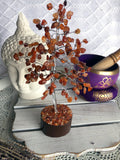 Carnelian Crystal Gemstone Tree Silver Small | Crystal Karma by Trina