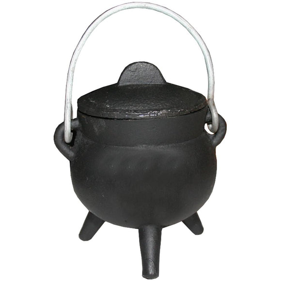 Cauldron Cast Iron with Lid & Handle - Plain 7cm | Crystal Karma by Trina