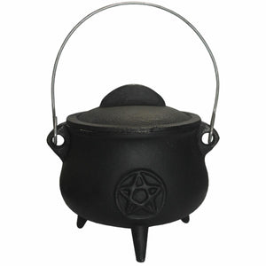 Cauldron - Cast Iron - Pentacle 14cm | Crystal Karma by Trina