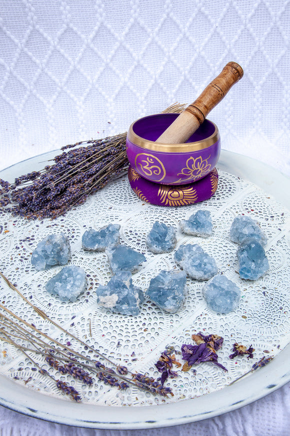 Celestite Clusters - Small | Crystal Karma by Trina