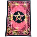 Altar Cloth Large Tapestry - Celtic Pentacle Red