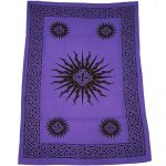 Altar Cloth Large Tapestry - Purple Celtic Sun | Crystal Karma by Trina