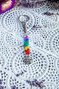 Chakra Key Rings with Charms - Crystal Karma By Trina