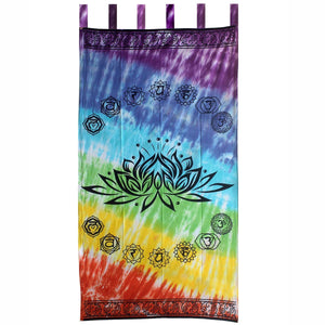 Chakra Lotus Tab Top Curtains - Pair of 2 | Crystal Karma by Trina