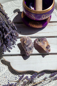 Chevron Amethyst Rough | Crystal Karma by Trina