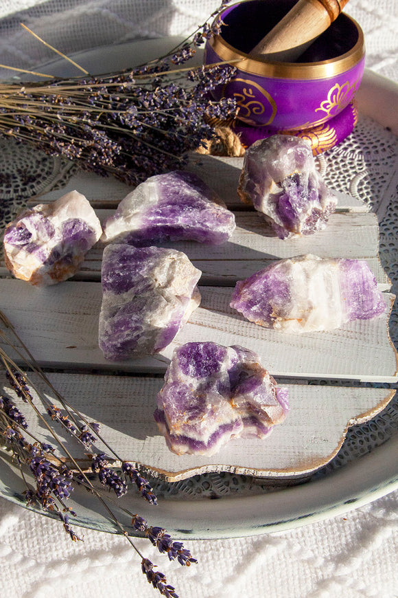 Chevron Amethyst Rough Large | Crystal Karma by Trina